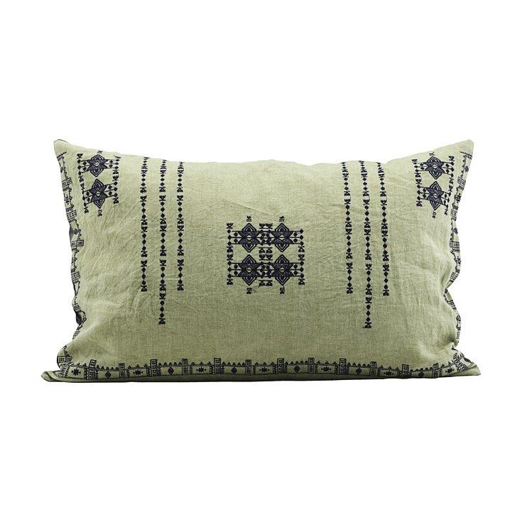 Zelený povlak na polštář Inka, 2 ks, 3690 Kč