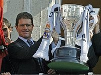 Fabio Capello s pohárem