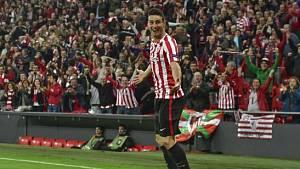 Aritz Aduriz z Bilbaa nasázel v Evropské lize Genku hned pět branek.
