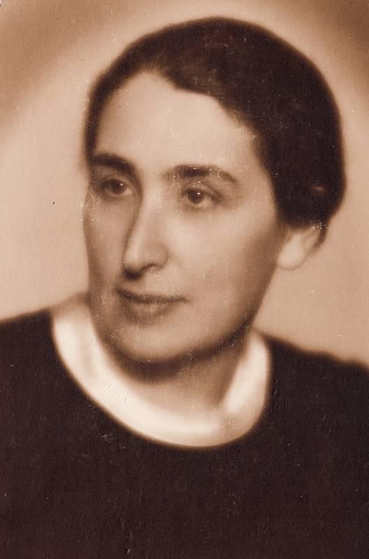 Maminka Božena Weinbergerová, rok 1939.