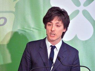 Nový předseda Strany zelených Matěj Stropnický.