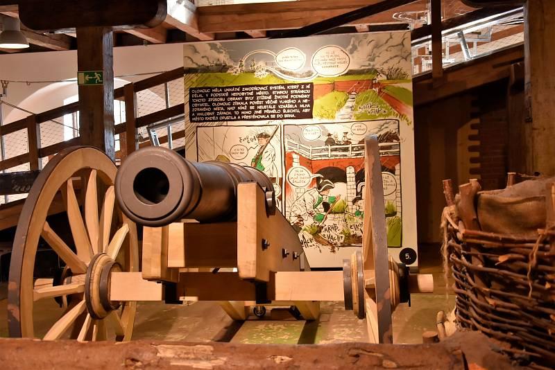 Pevnost poznání v budově dělostřeleckého skladu olomoucké Korunní pevnůstky