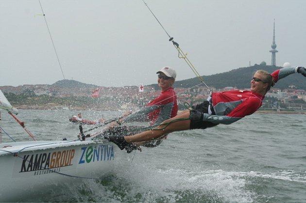Lenka Šmídová a Lenka Mrzlíková při tréninku na mistrovství světa.