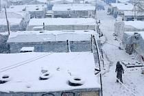Stanový tábor syrských uprchlíků