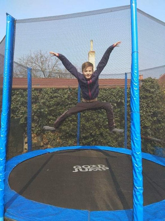 Skákání na trampolíne v Uherském Hradišti