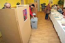 První volební den voleb do poslanecké sněmovny 2013 v Havlíčkově Brodě, 25. října.
