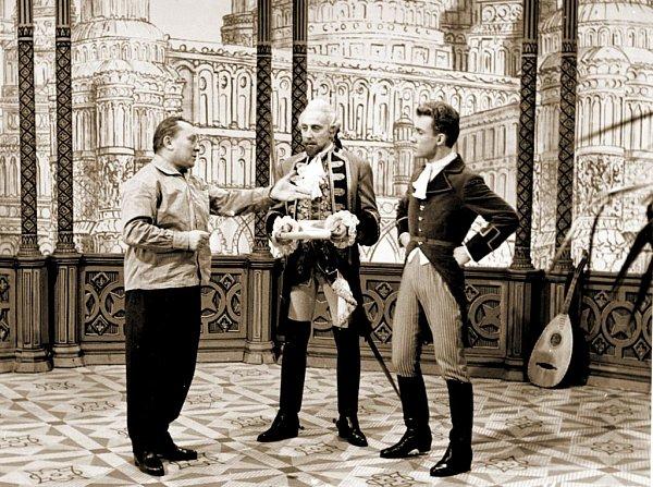 Snímek ze slavného Zemanova filmu Baron Prášil
