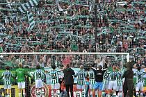 Bohemians 1905 se radují po výhře nad Českými Budějovicemi 2:0. Jak dopadne derby s Bohemians Praha?