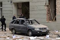 Výbuch plynu v Divadelní ulici 29. dubna.