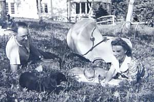 Aleš Kaprál s manželkou Zdenou a dcerou