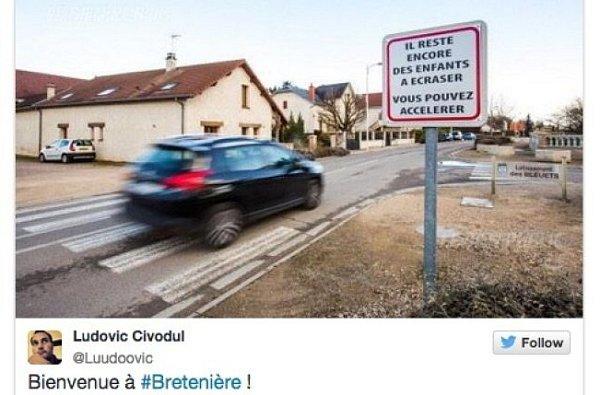 VBretenière se zvláštním způsobem snaží donutit řidiče, aby zpomalili.