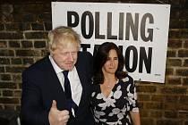 Boris Johnson se svou ženou Marinou