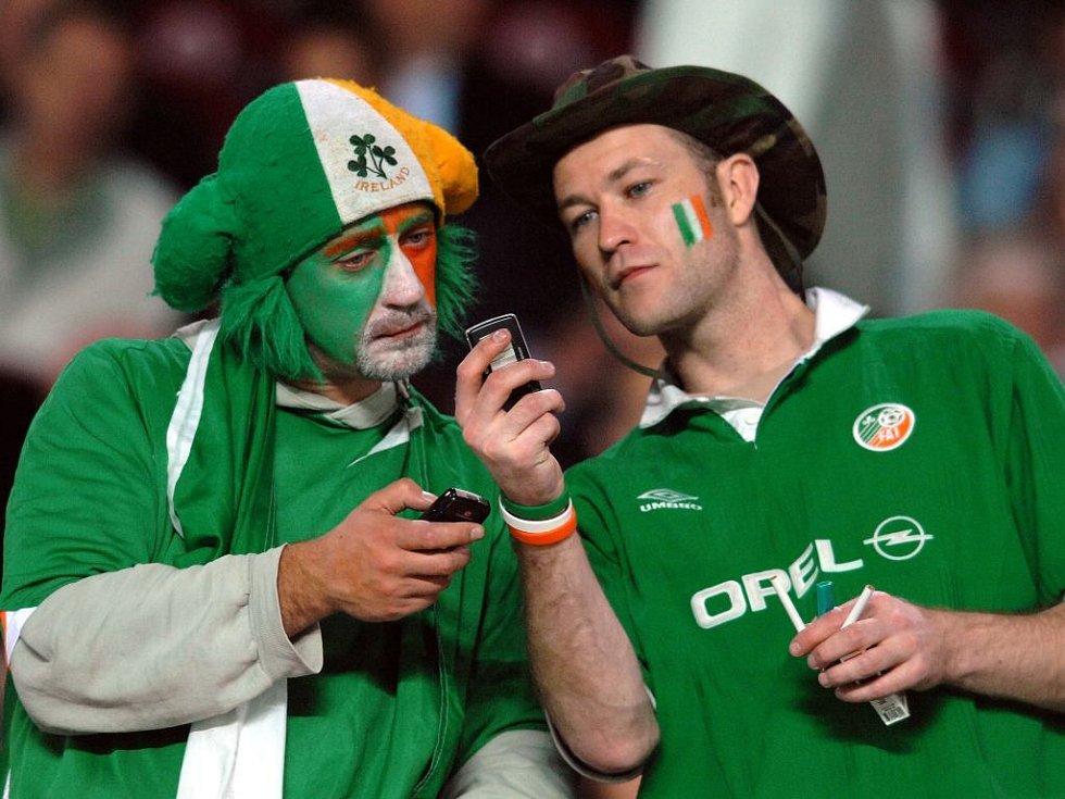 Irských fanoušků dorazilo do Prahy poměrně hodně.
