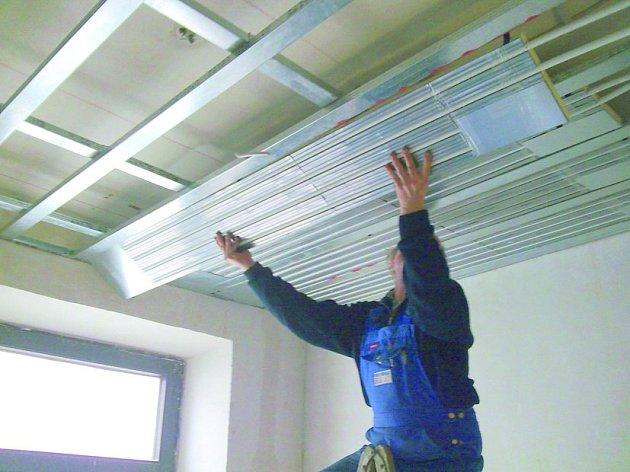 Systém stropního vytápění Frigoma