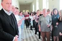 Hosty slavnostního otevření byli převážně zaměstnanci nemocnice