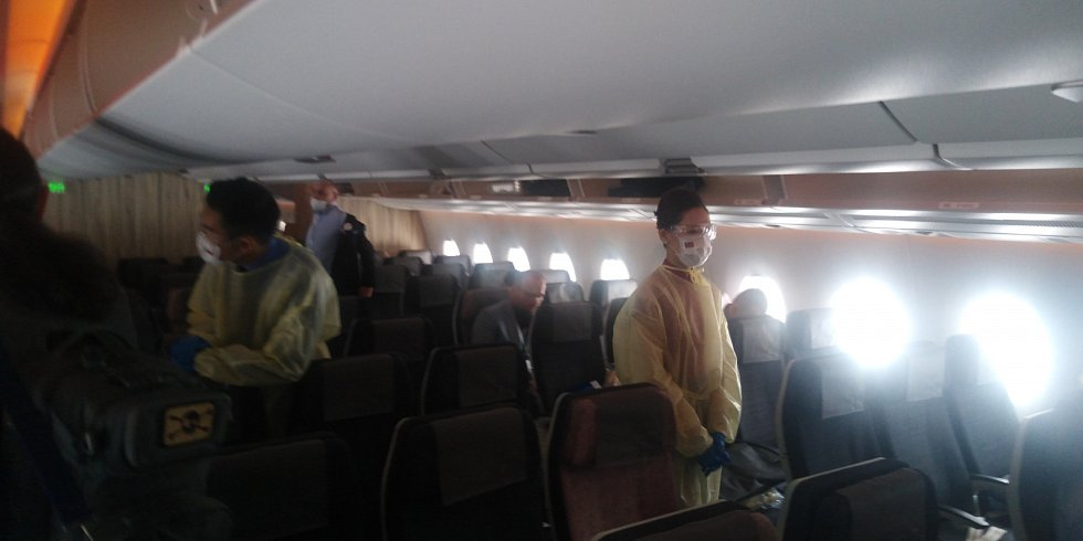 Z cesty letadlem na Tchaj-wan