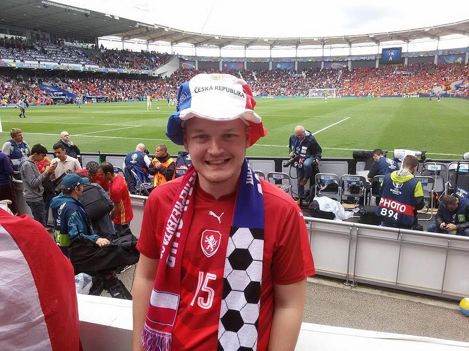 Jan Štěrbák, člen oficiálního fanklubu české fotbalové reprezentace.