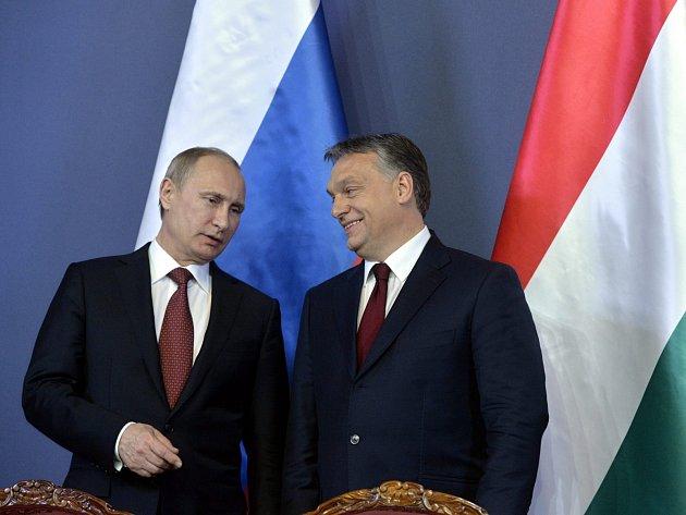 Vladimir Putin a Viktor Orbán.