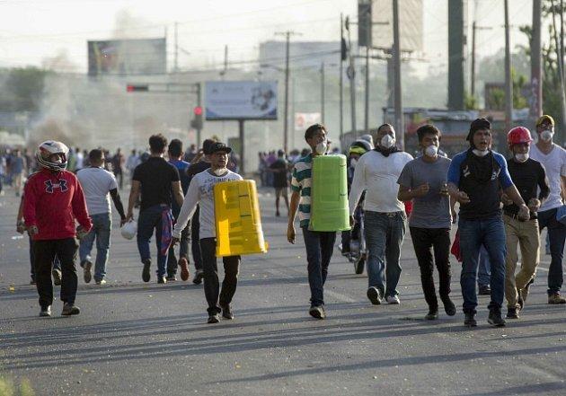 Střety demonstrantů s policií v Nikaragui