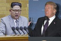 Severokorejský vůdce Kim Čong-un (vlevo) a americký prezident Donald Trump.