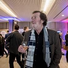 Sledování výsledků druhého kola prezidentských voleb ve štábu Jiřího Drahoše 27. ledna v Praze. Bolek Polívka