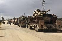 Turecký vojenský konvoj