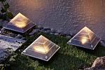 Solární světlo Pyramida, 3 ks