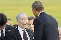 Sunao Tsuboi (vlevo) a Barack Obama.