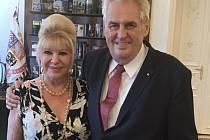 Miloš Zeman se sešel s Ivanou Trumpovou