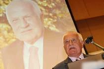 Václav Klaus při přednášce na Univerzitě J. E. Purkyně v Ústí nad Labem.