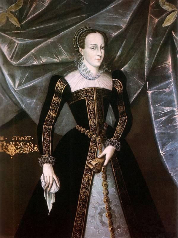 Královna skotská a francouzská Marie Stuartovna.