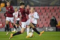 Utkání skupiny H 6. kola základních skupin fotbalové Evropské ligy: AC Sparta Praha - AC Milán