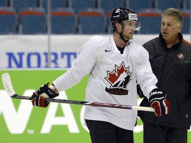 Steven Stamkos na tréninku kanadské reprezentace na MS.