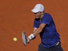 Tomáš Berdych na turnaji v Madridu.
