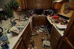 Zemětřesení v Kalifornii. Na snímku kuchyň