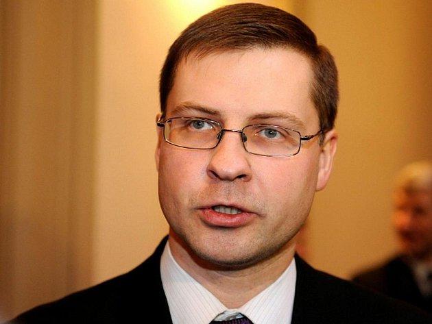 Lotyšský premiér Valdis Dombrovskis.