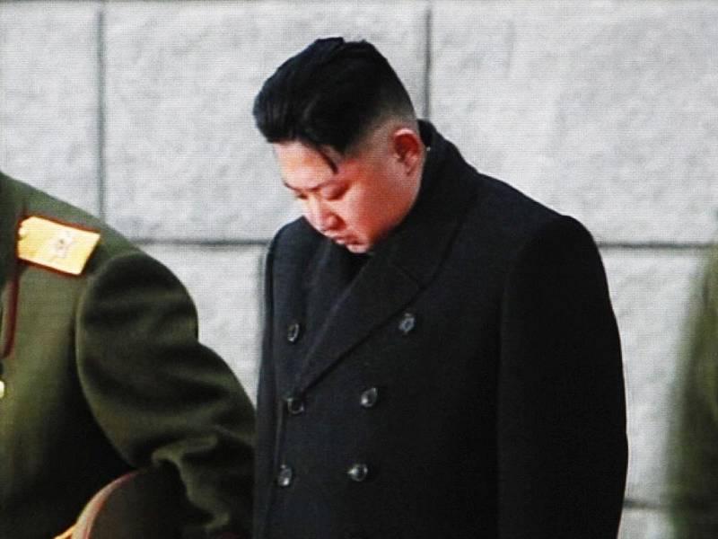 Kim Čong-un na pohřbu svého otce.