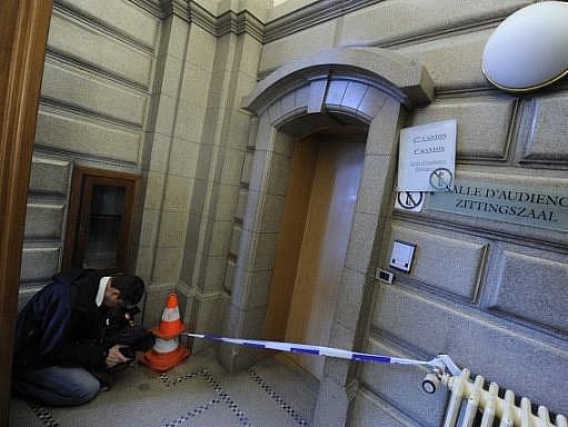 Soudní budova, kde byla zastřelena soudkyně a soudní zapisovatel