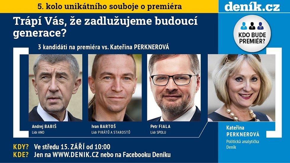 Pátá předvolební debata Deníku na téma zadlužování ČR.