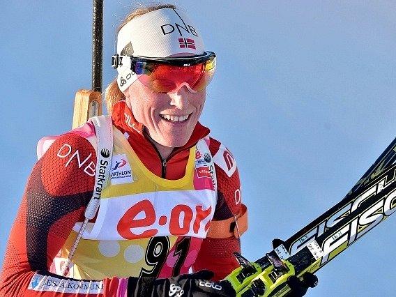 Vládkyně současného biatlonu Tora Bergerová.