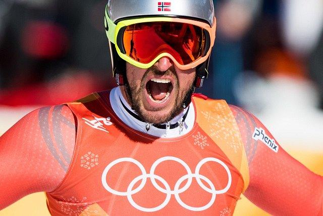 Zasloužená radost. Aksel Lund Svindal je olympijským vítězem ve sjezdu.
