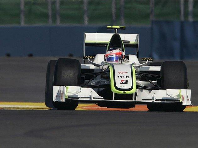 Brazilec Rubens Barrichello během tréninku na VC Evropy ve Valencii.