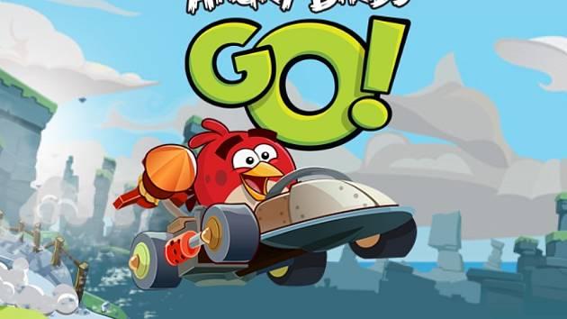 Poačítačová hra Angry Birds Go.