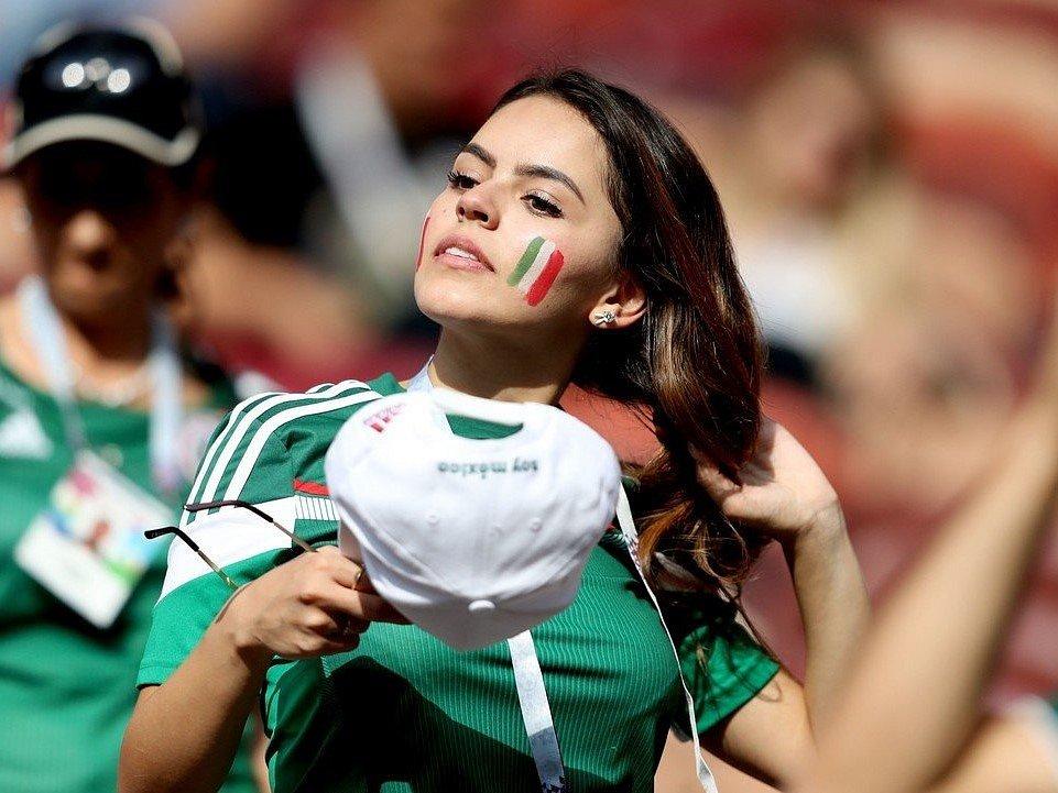 Mexická fanynka. Fotbalové MS Rusko 2018