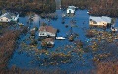 Povodeň po hurikánu Irma na Bahamách.