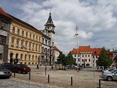 Prachatice - náměstí s radnicí