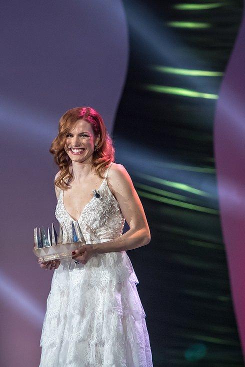 Vyhlašování ankety Sportovec roku probíhalo 21. prosince v Praze. Gabriela Koukalová.