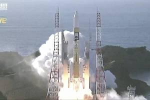 Start rakety H-IIA se sondou Amal (Naděje) Spojených arabských emirátů z japonského vesmírného střediska Tanegašima, 20. července 2020