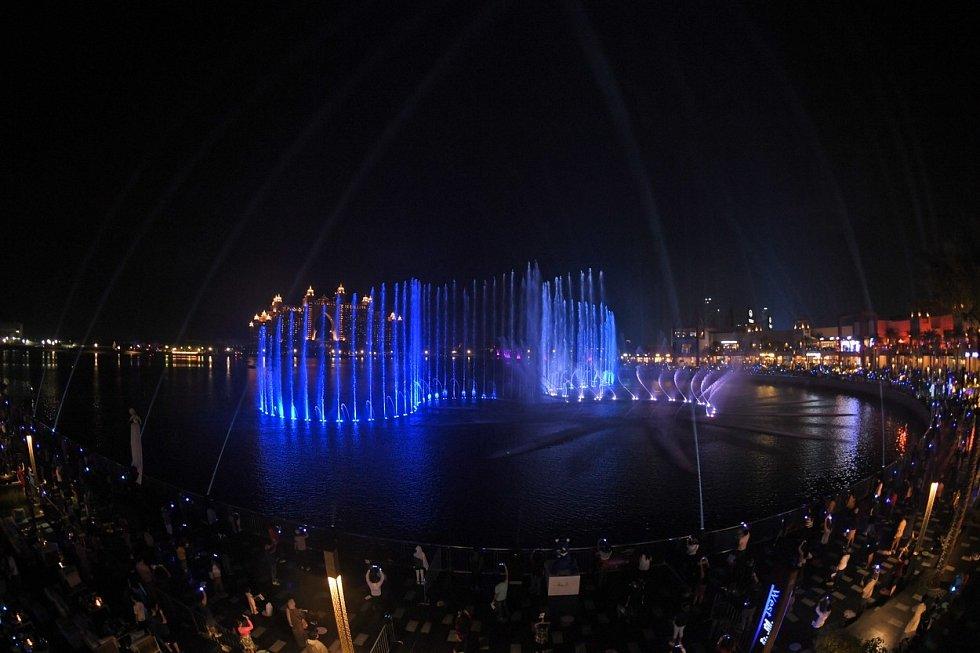 Palmová fontána na V Dubaji