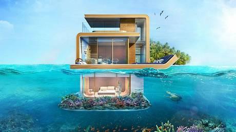 Tři patra, jedno s výhledem na unikátní uměle vytvořené souostroví, druhé na úrovni mořské hladiny, třetí pod hladinou - přes okna je z něj vidět na korálový útes a živočichy v něm. Takový luxus nabízí unikátní vily, jejichž kolonie nyní vzniká v Dubaji.